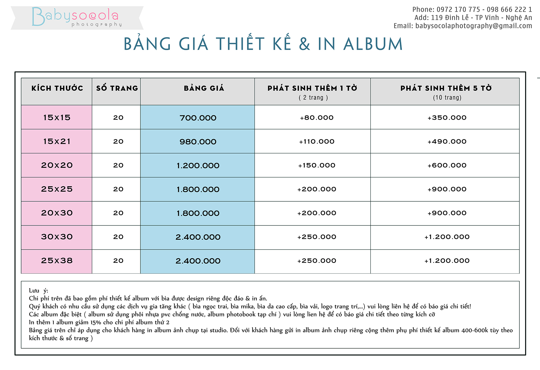 BANG GIA DAI LY 1 ALBUM